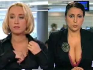 Sexy nieuwslezeres leidt af