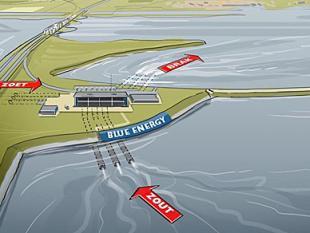 Innovatieve centrale op Afsluitdijk maakt energie uit zoet en zout water