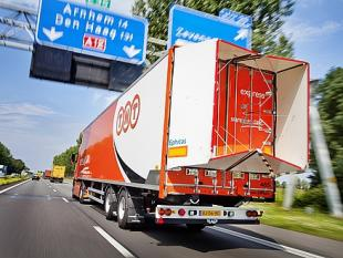 Aerodynamische vrachtwagen rijdt zes procent zuiniger