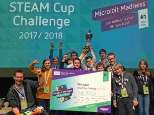 Rijdende prullenbak wint STEAM Cup Challenge 2018