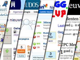 Sociale nieuwsstrijd in Nederland