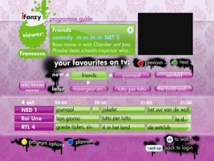 Persoonlijke tv-gids helpt bij het tv kijken