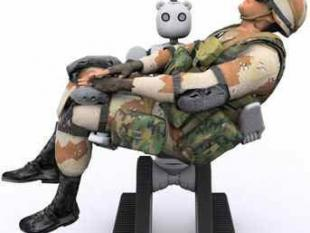 Knuffel-robot haalt soldaten van het slagveld