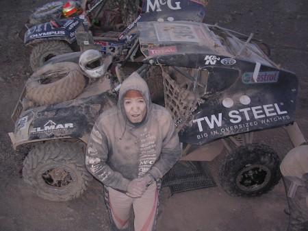 Tim Coronel tijdens de Dakar-rally van 2010