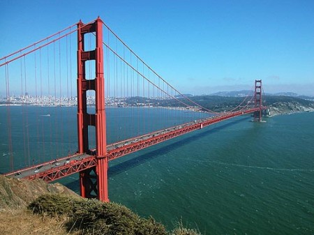 De Golden Gate Bridge in San Francisco