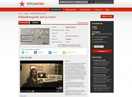 Een screenshot van Pitchstar