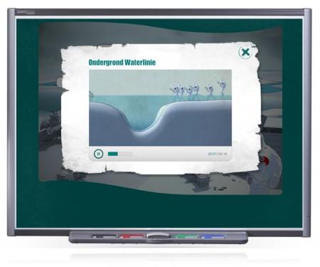 Onder de rode knop zit een korte animatie of video-clip over een detail