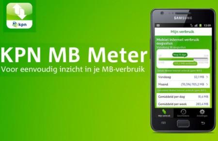 KPN introduceerde een app waarmee dataverbruik kan worden gemeten.