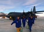 Aankomst op Antarctica