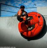 Een hoverboard kan schuin.