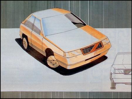 Het winnende ontwerp van Talsma uit 1983