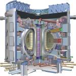 Een doorsnede van de Tokamak van ITER