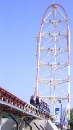 Top Thrill Dragster (Cedar Point, VS) was tot voor kort nog de hoogste en snelste achtbaan ter wereld (foto: Brain Lint)