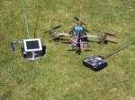 Zelfgebouwde quattrocopter