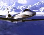 Een Cessna Citation in actie