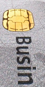 EMV chip op een credit card