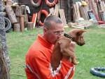 Piet met hond Jules