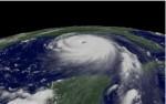 Orkaan Katrina onderweg naar New Orleans. (beeld: NOAA)
