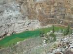 Coeur d'Alene Basin open uraniummijn (V.S.). Foto: U.S. Fish and Wildlife Service