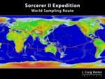 Route van de Sorcerer II-expeditie (copyright: Venter Institute)
